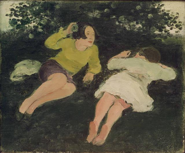 Albert York, Two Women Reclining in Landscape