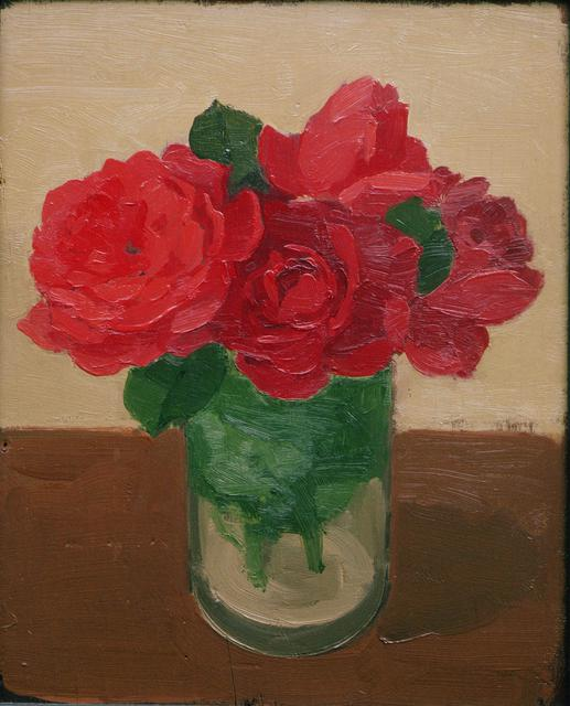 Albert York, Red Roses in Glass Jar